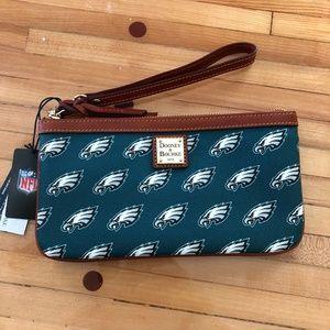 Dooney & Bourke NFL Eagles Large Wristlet Wallet